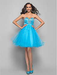 TS Couture® Cocktail Party / Homecoming / Prom Dress - Short Plus Size / Petite A-line Sweetheart Short / Mini Tulle with Beading / Crystal Detailing