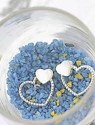 südkoreanischen Doppel Liebe Seelenverwandten Shell Ohrring Ohrstecker Großhandel Ohrringe Koreanisch (gelegentliche Farbe)