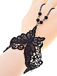 Lureme®Lace Style Butterfly Ring Bracelet