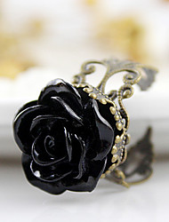 Ring Daily Jewelry Alloy / Acrylic Women Statement RingsAdjustable Black