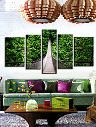 Stretched Canvas Art Landscape Drawbridge Set of 5