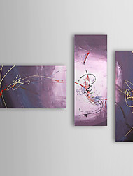 Hand Painted Oil Painting Abstract with Stretched Frame Set of 3 1309-AB0956