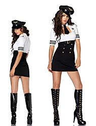 Hot Female Diretor de preto e branco clássico uniforme da marinha