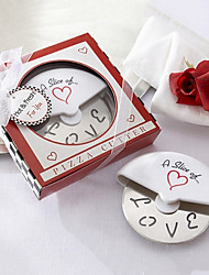 A Slice of Love Edelstahl-Pizza Cutter in Miniatur Pizza Box Bevorzugungen
