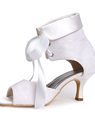 Women's Wedding Shoes Peep Toe Sandals Wedding White