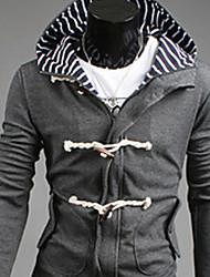 REVERIE UOMO Herren Grau Korean Hoodie Herbst Slim Fit Hoodie