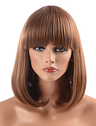 Capless High Quality Synthetic Golden Brown Straight BOB Hair Wigs