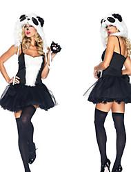 Preto bonito Panda e branco Kigurumi Feminino Halloween Costume