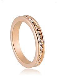 De haute qualité en or 18 carats d'alliage plaqué bague en cristal