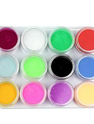 12 Mix kleuren Acryl Poeder Builder Nail Art Set