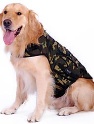 Camouflage Backpack Padrão shirt para cães (M-XL)
