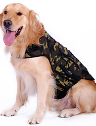Camouflage Pattern Shirt Mochila para perros (M-XL)