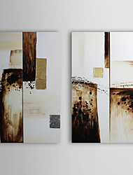 Hand Painted Oil Painting Abstract with Stretched Frame Set of 4 1309-AB0905