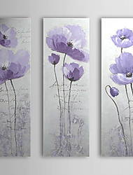 Hand Painted Oil Painting Floral Love with Stretched Frame Set of 3 1309C-FL0853