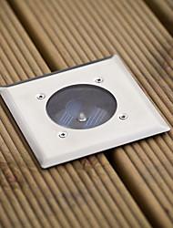 Ensemble de 8 LED blanches en acier inoxydable Lumières de terrasse solaires (cis-57104)