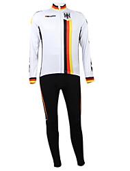 Kooplus2013 Campeonato Jersey Alemanha poliéster e Lycra e tecido elástico Ciclismo Suits (camisa + Bib-calças)