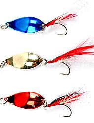 1 pcs Poissons nageur/Leurre dur Appât métallique leurres de pêche Poissons nageur/Leurre dur Appât métalliqueOr Rouge Bleu Couleurs