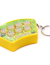 Mini Handheld Whack-A-Mole Whack Mouse Hamster Game with Sound & Keychain(Random Color)