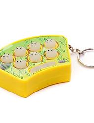Mini Handheld Whack-A-Mole Whack Mouse Game Hamster com Sound & Keychain (cor aleatória)