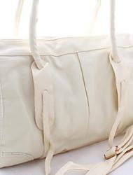 LAKE Women's Tideway Pure Color Graceful Style Zipper Handbag Beige