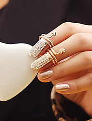 Women's Elegant Full-Crystal Finger Ring(Random Color)