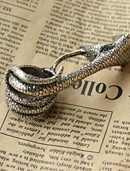 Serpente enrolada Anel Alloy Anel Punk