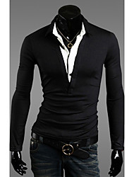 Men's Lapel Slim T-Shirt
