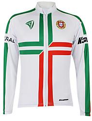 Kooplus Maillot de Cyclisme Femme Homme Unisexe Manches longues Vélo Maillot Hauts/TopsSéchage rapide Pare-vent Zip étanche Zip frontal
