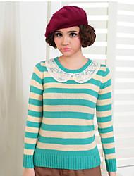 KARORINLAN Frauen dünne Round Neck Sweater