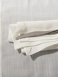 1 White Poly / Cotton Blend Square Napkin