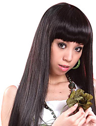 Capless High Quality Synthetic Long Straight Black Hair Wigs