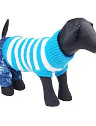 Hunde Pullover Grün / Blau / Rosa Hundekleidung Winter Streifen