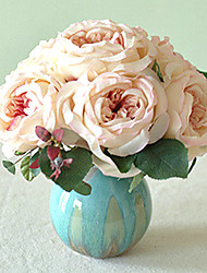 "10""H Country Style Rose Arrangement In Ceramic Vase"
