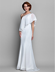 A-line Plus Sizes Mother of the Bride Dress - Ivory Floor-length Sleeveless Chiffon