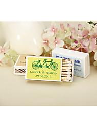 Wedding Décor Personalized Matchbooks - Tandem Bike-Set of 12 (More Colors)