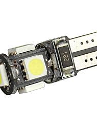 Merdia T10 blanc 5050 SMD 5 LED Canbus décodage Voiture Ampoule LED (paire)-LEDD004JMA5S1