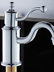 Contemporary Design Chrome Finish Bathroom Sink Faucet