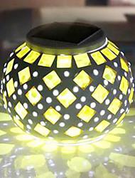 Modern Mosaic RGB Color-Changing LED Solar Powered Garden Light -Solar Table Light- Solar Small Night Light In Jar Design