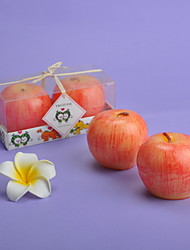 Apple Shaped Candles-Set of 2 Pieces