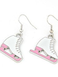Lovely Ice Skates Shaped Women's Earrings