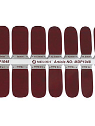14PCS Pure Color Nail Art Stickers Ambiental NO.5 grávida (cores sortidas)
