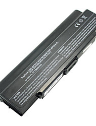 7800mah Replacement Laptop Battery for Sony Vaio VGN-AR VGN-CR VGN-NR VGP-BPS10 VGP-BPS9 VGP-BPS9A/B - Black