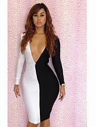 Women's Sexy Deep V Neck Backless Spicing Mini Dress
