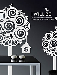 Botanical I Will Be There Wandsticker