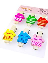 Modello Casa Colorful clip di legno (6 PZ)