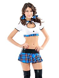 Naïve Girl Blue Plaid Skirt Short Sleeve Top School Uniform