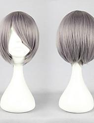 Neon Genesis Evangelion Kaworu Nagisa Slivery Grey Cosplay Wig