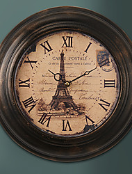 "13.5 ""H Retro Franse Metalen Wall Clock"