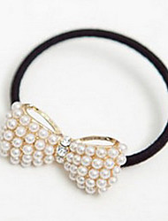 Z&X®  Cute Little Pearl Bowknot Hair Ring Rope All-Match