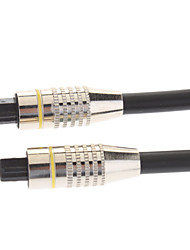 Fiber Optic Male to Male Cable Black OD 6.0 Nickel-Plated(3M)